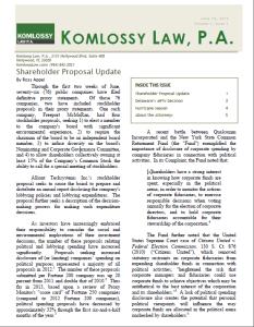 Komlossy Law Newsletter
